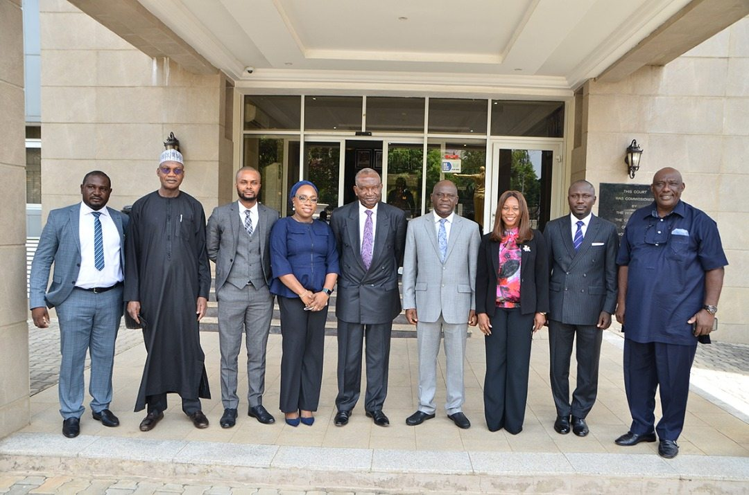 L - R: Mr Daniel Manasseh Tela, Secretary, Body of Benchers, Prof. Tahir Mamman SAN, Senior Partner at J-K Gadzama LLP, Mr Darlington Onyekwere, Partner at J-K Gadzama LLP, Mrs Toyin Bashir, Partner at Banwo and Ighodalo, Chief Kanu Agabi SAN, CON, the Keynote Speaker, Hon. Justice H. Baba, Mrs Dianne Okoko FCIArb., Partner at Marcus Okoko & co., Mr Oyetola Muyiwa Atoyebi, Managing Partner at Omaplex law firm and Joe-Kyari Gadzama SAN